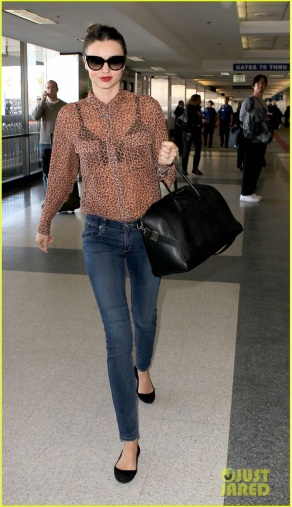 Miranda Kerr is Wildly Beautiful at LAX