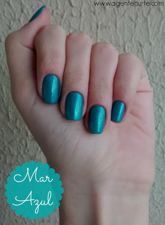 Unhas: Mar Azul