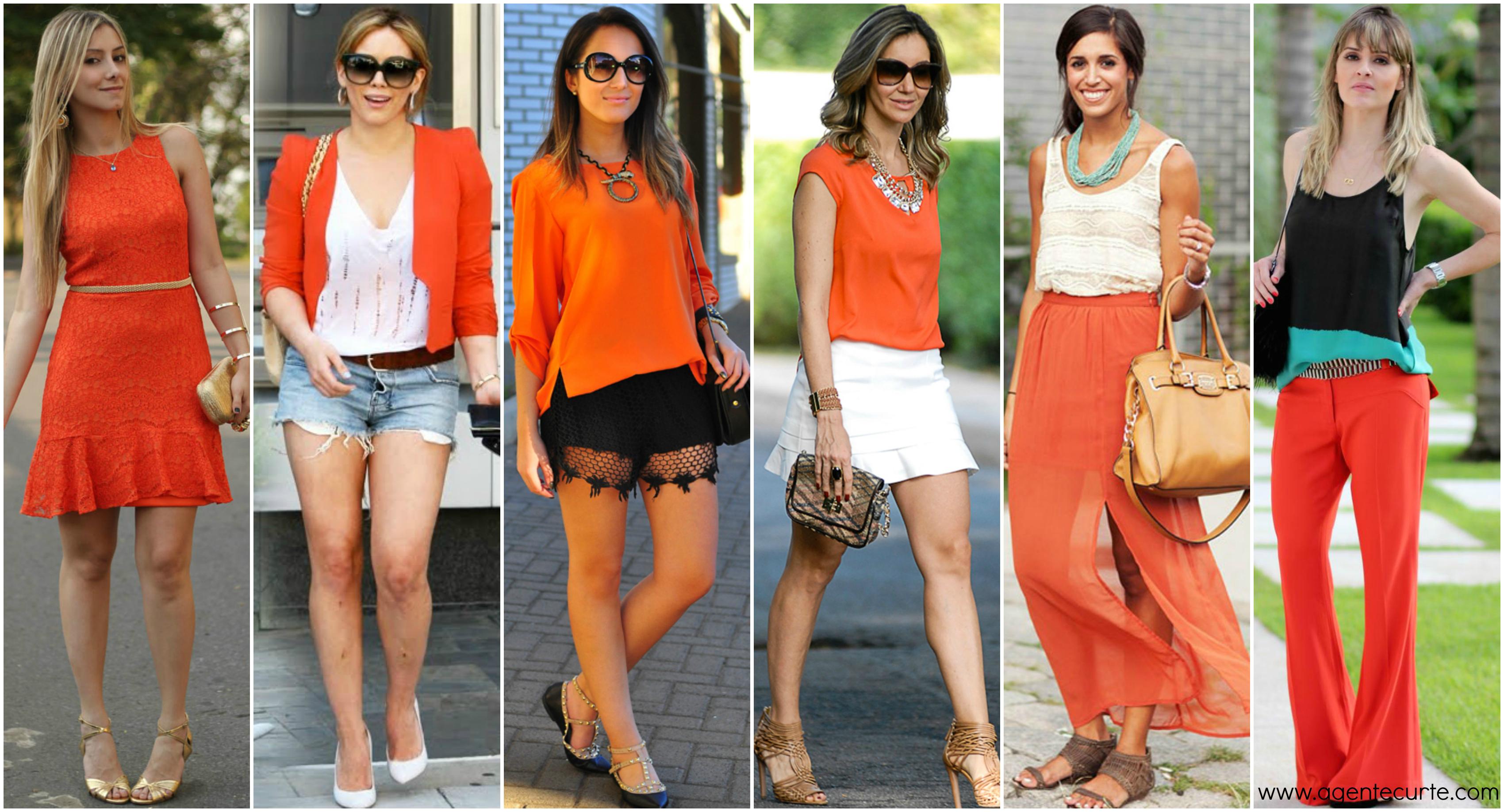 tendencias de moda - peças em laranja