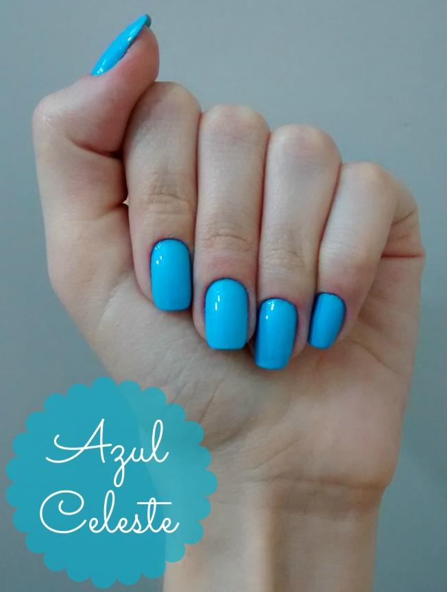 Unhas: Azul Celeste