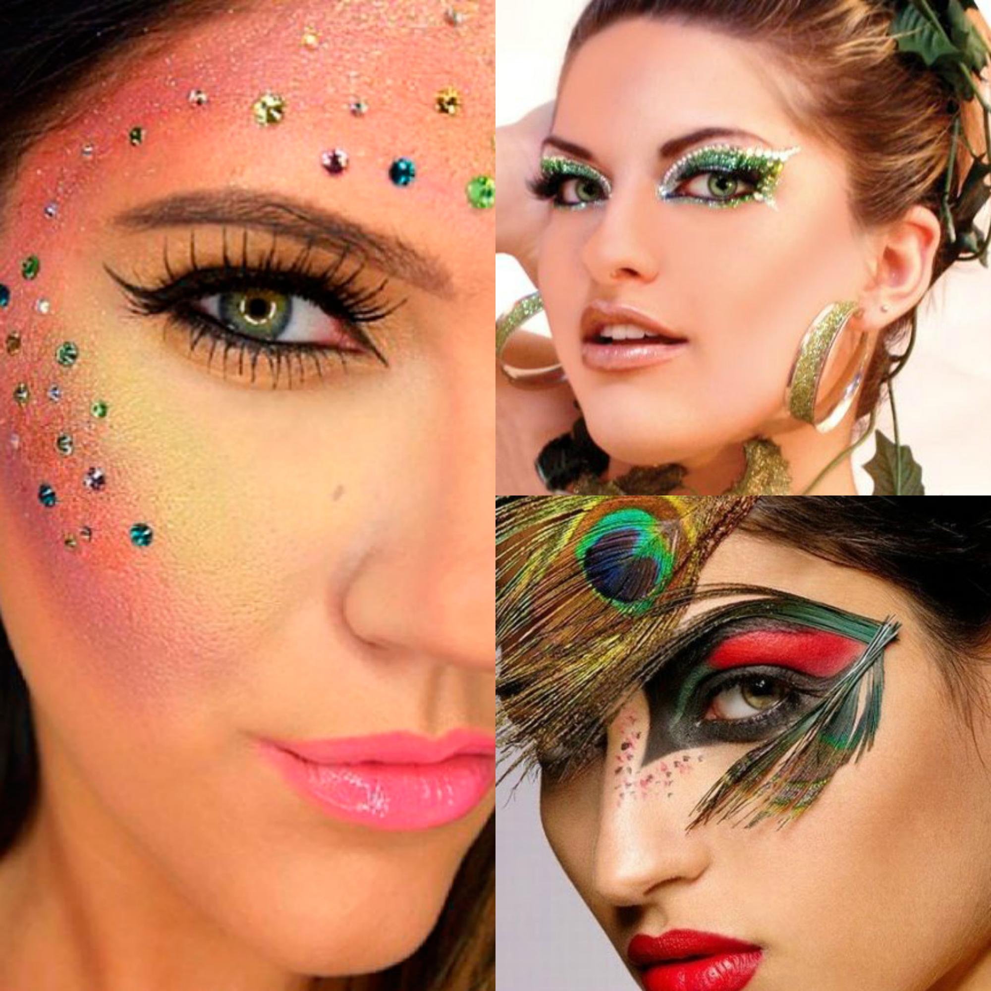 Maquiagem de carnaval exótica